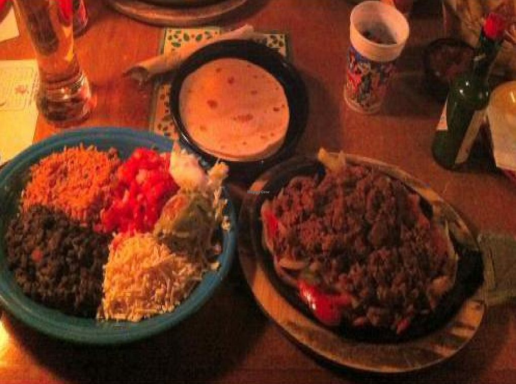 """Photo of Miguel's Mexican Restaurant  by <a href=""""/members/profile/TunnelMojo"""">TunnelMojo</a> <br/>Vegan Fajita Meal at Miguel's <br/> January 27, 2012  - <a href='/contact/abuse/image/30051/222140'>Report</a>"""