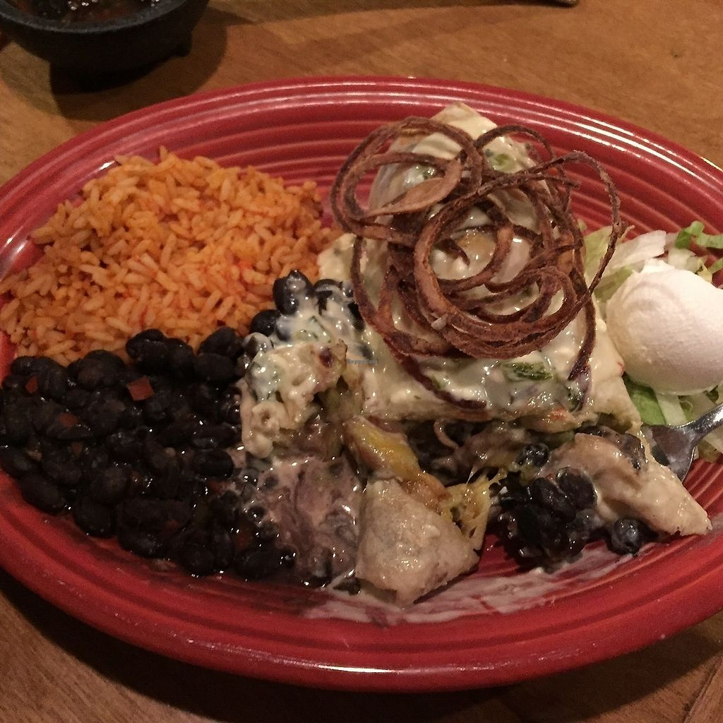"""Photo of Miguel's Mexican Restaurant  by <a href=""""/members/profile/NorthernStar"""">NorthernStar</a> <br/>Vegetarian """"Chimichanga""""...I asked for mine not to be deep fried.  <br/> September 17, 2017  - <a href='/contact/abuse/image/30051/305326'>Report</a>"""