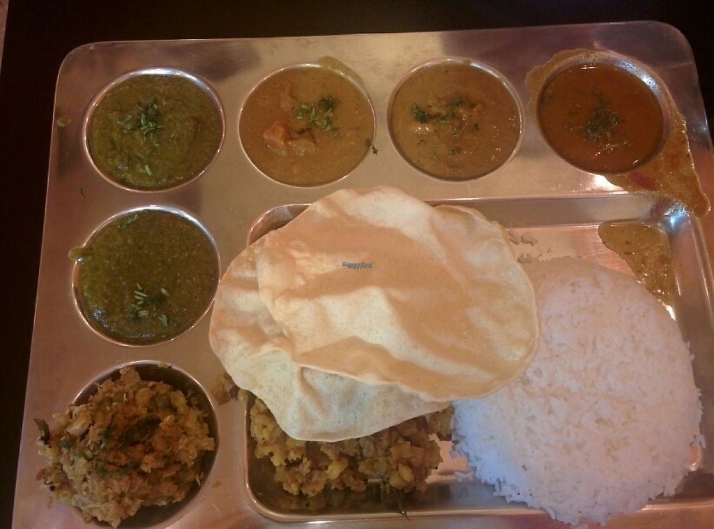 """Photo of Kamakshi's Kitchen  by <a href=""""/members/profile/alexandra_vegan"""">alexandra_vegan</a> <br/>South Indian plate veganised, enough for two <br/> January 27, 2017  - <a href='/contact/abuse/image/30072/217722'>Report</a>"""