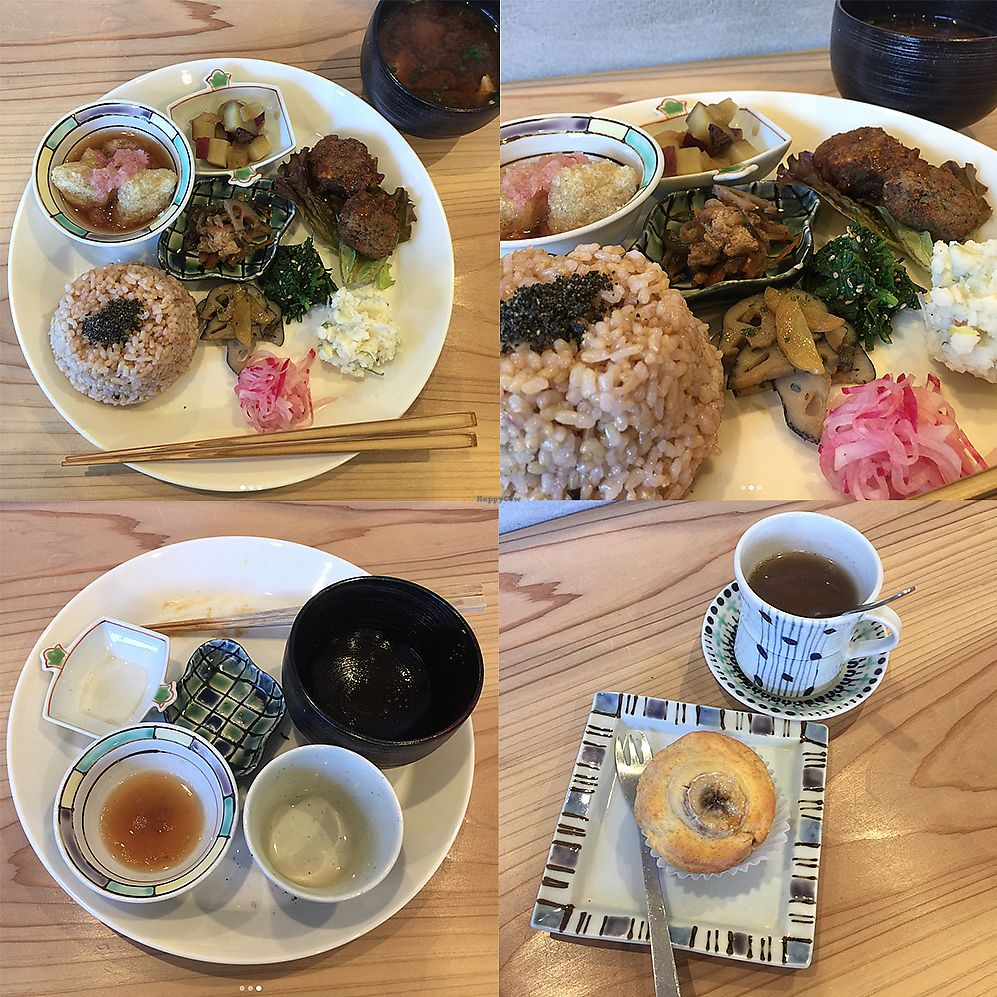 """Photo of Life Gallery  by <a href=""""/members/profile/giruja"""">giruja</a> <br/>Vegan set meal (macrobiotic). Banana muffin dessert and lotus root tea <br/> February 10, 2018  - <a href='/contact/abuse/image/30077/357130'>Report</a>"""