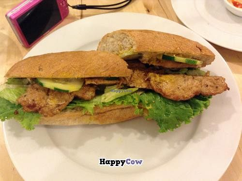 """Photo of Vegan Tree  by <a href=""""/members/profile/Julie%20R"""">Julie R</a> <br/>'Chicken' sandwich.  DELICIOUS! <br/> November 1, 2013  - <a href='/contact/abuse/image/30106/57711'>Report</a>"""