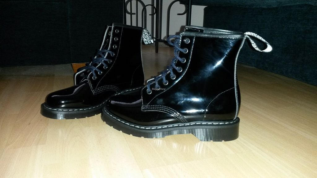 """Photo of Vegetarian Shoes  by <a href=""""/members/profile/deadpledge"""">deadpledge</a> <br/>Dr Martens Boots <br/> May 5, 2016  - <a href='/contact/abuse/image/30114/147567'>Report</a>"""