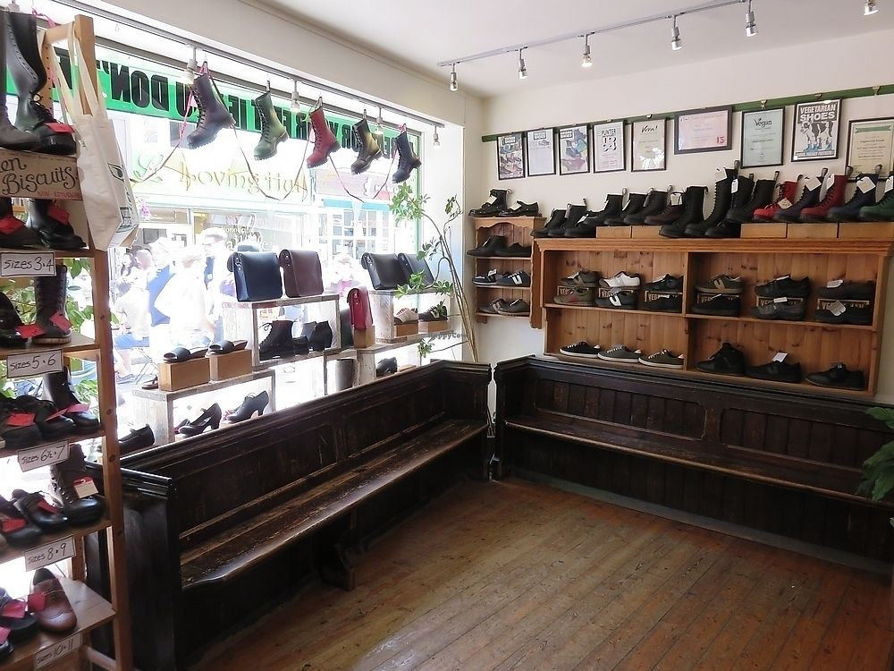 """Photo of Vegetarian Shoes  by <a href=""""/members/profile/TrudiBruges"""">TrudiBruges</a> <br/>inside Vegetarian shoes, Brighton <br/> November 20, 2017  - <a href='/contact/abuse/image/30114/327489'>Report</a>"""