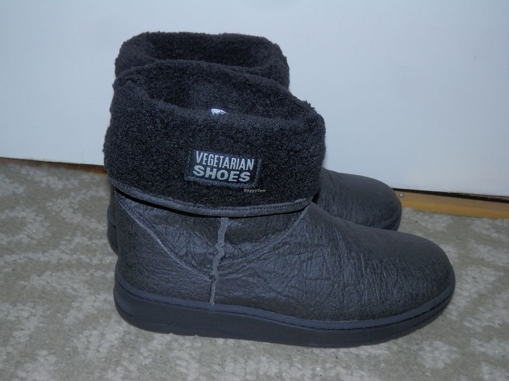"""Photo of Vegetarian Shoes  by <a href=""""/members/profile/Vegan_Belle"""">Vegan_Belle</a> <br/>Snug Boots (made from pineapple leaf fibres) <br/> December 19, 2017  - <a href='/contact/abuse/image/30114/337318'>Report</a>"""