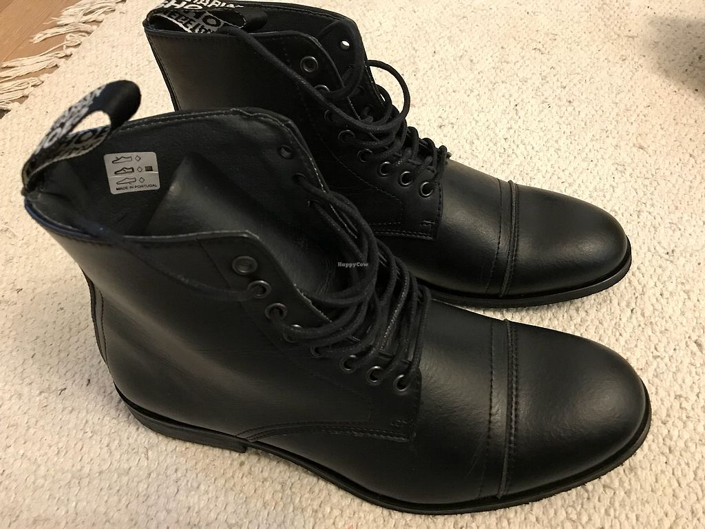 """Photo of Vegetarian Shoes  by <a href=""""/members/profile/VickiWanSlattery"""">VickiWanSlattery</a> <br/>Ethical boots <br/> March 17, 2018  - <a href='/contact/abuse/image/30114/371969'>Report</a>"""