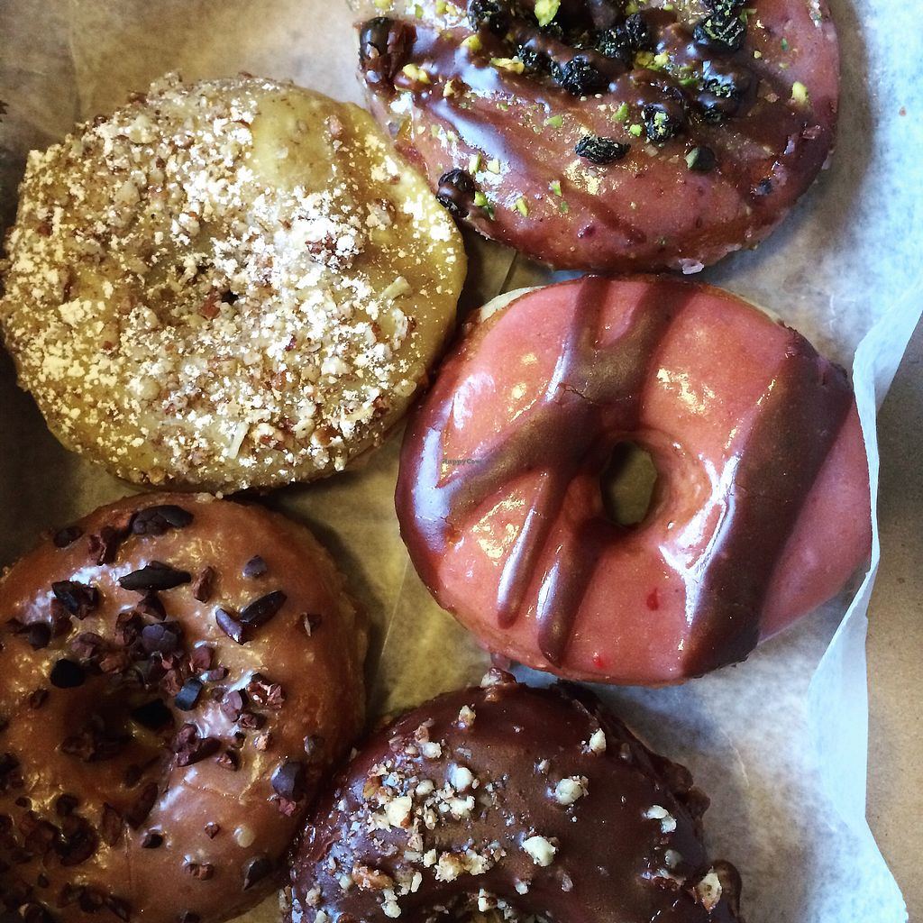 "Photo of Dun-Well Doughnuts  by <a href=""/members/profile/thecharlotte"">thecharlotte</a> <br/>Vegan Doughnuts  <br/> August 24, 2017  - <a href='/contact/abuse/image/30135/296578'>Report</a>"