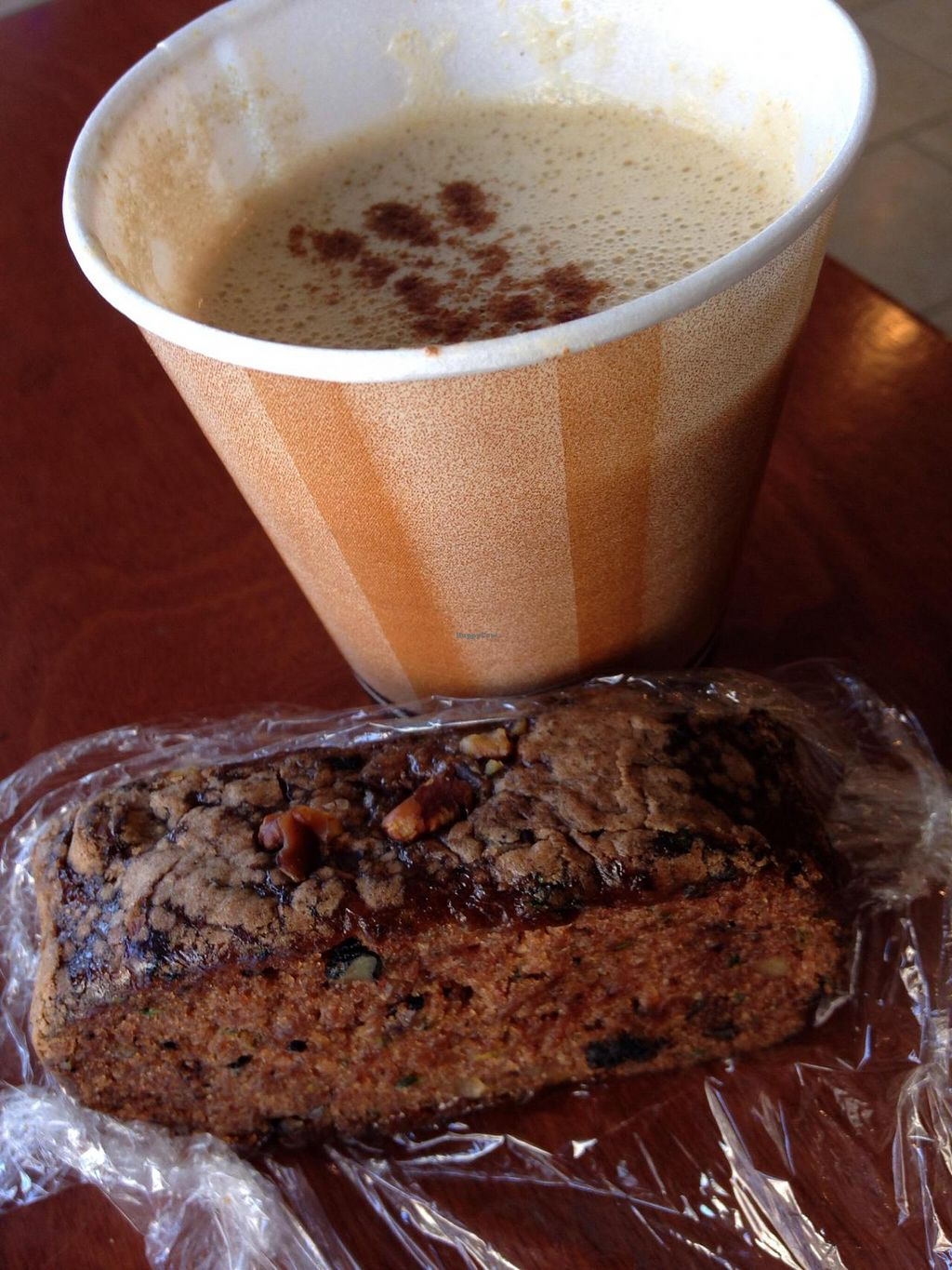 """Photo of CLOSED: Flaxella  by <a href=""""/members/profile/cookiem"""">cookiem</a> <br/>Flax almond latte and zucchini vegan bread <br/> April 21, 2014  - <a href='/contact/abuse/image/30165/68211'>Report</a>"""