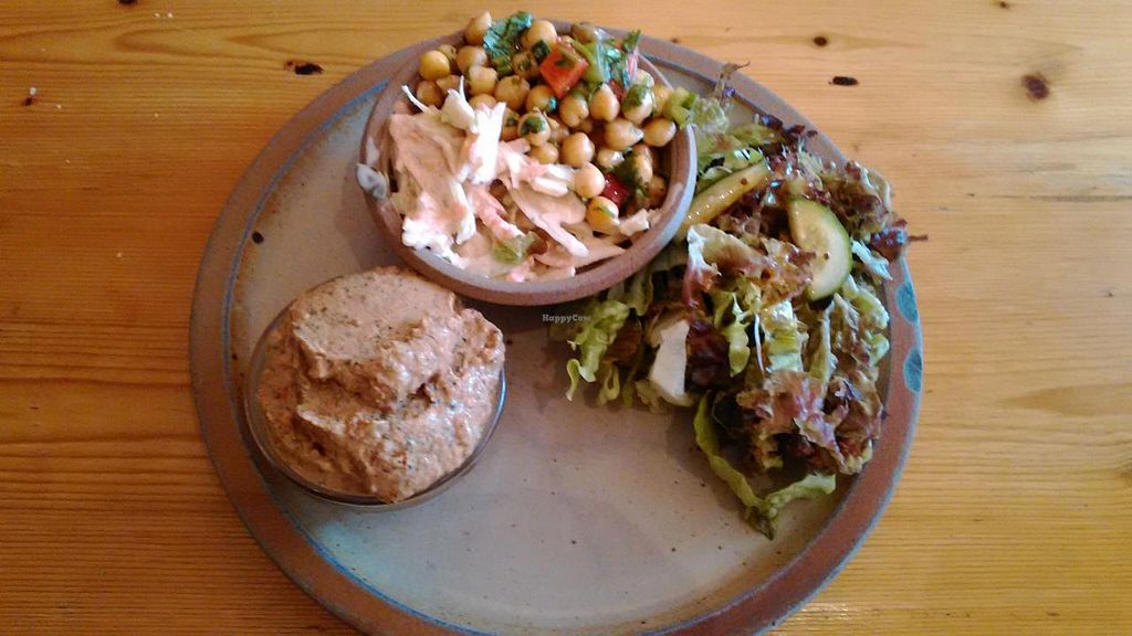 """Photo of Willow Vegetarian Garden Restaurant  by <a href=""""/members/profile/LilacHippy"""">LilacHippy</a> <br/>Salad and dip <br/> June 26, 2015  - <a href='/contact/abuse/image/3017/107342'>Report</a>"""