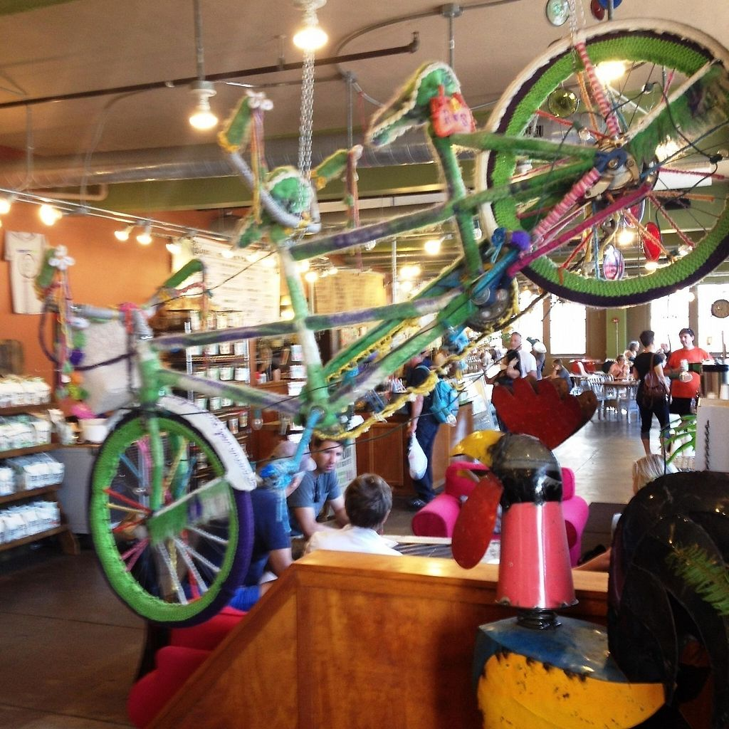 "Photo of Coffee Emporium  by <a href=""/members/profile/turtleveg"">turtleveg</a> <br/>Bike Cozy decor at Coffee Emporium <br/> August 7, 2015  - <a href='/contact/abuse/image/30206/216180'>Report</a>"