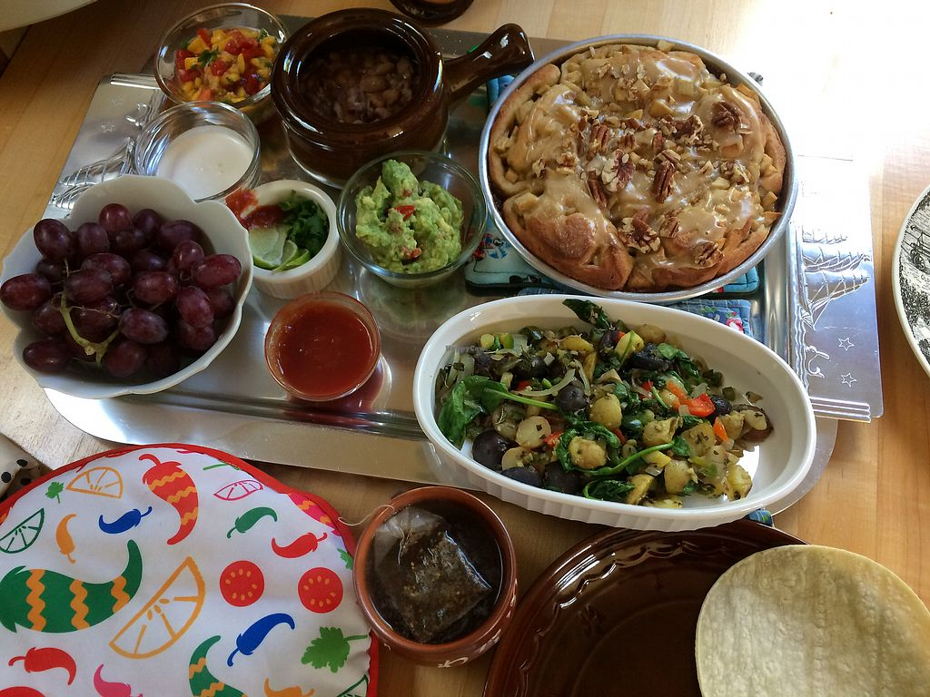"""Photo of Someday Farm Vegan Bed and Breakfast  by <a href=""""/members/profile/Arti"""">Arti</a> <br/>Whoa! breakfast ! so good! <br/> October 8, 2017  - <a href='/contact/abuse/image/30230/313298'>Report</a>"""