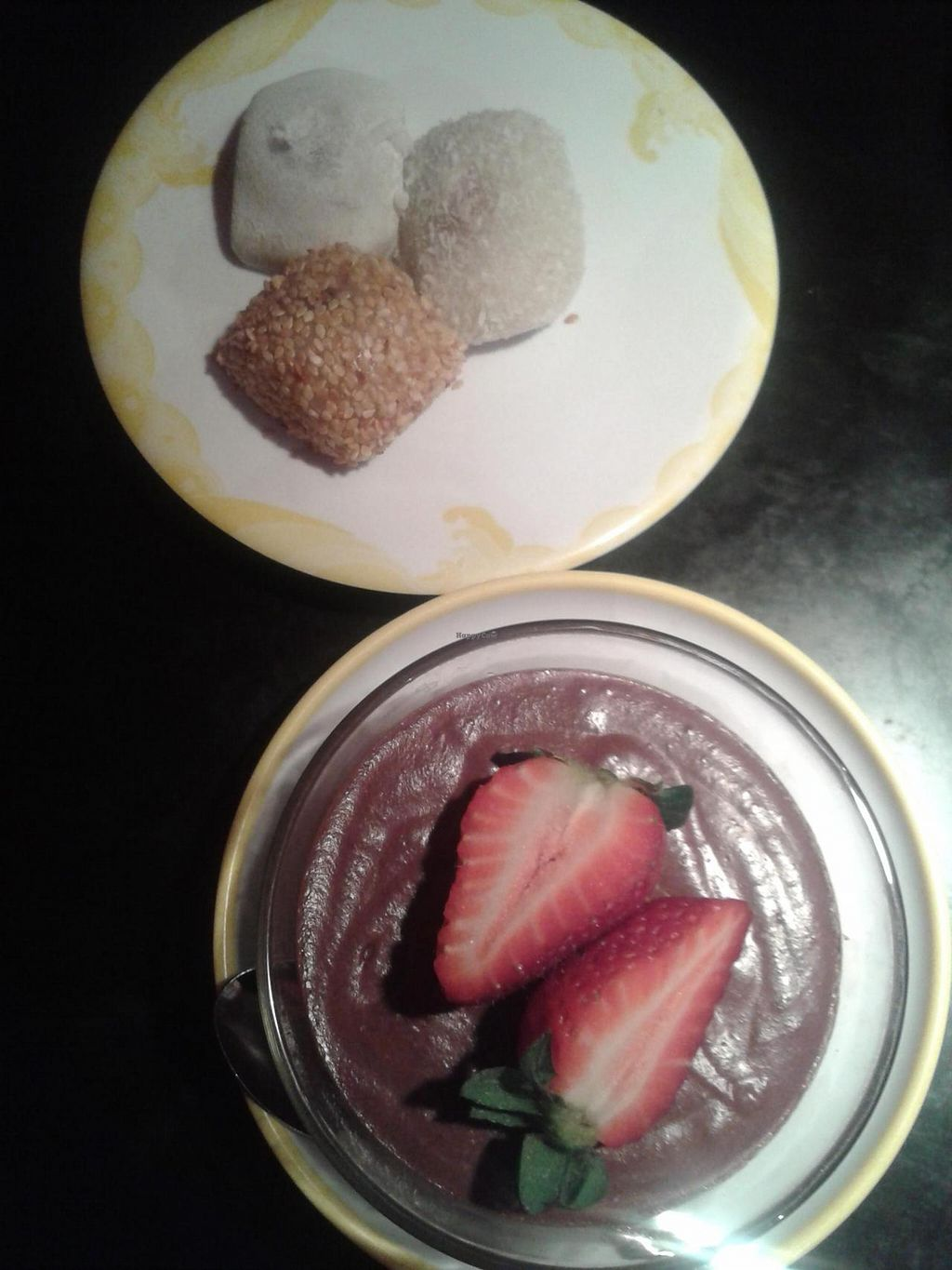 "Photo of Moshimo  by <a href=""/members/profile/jennyc32"">jennyc32</a> <br/>Vegan desserts:  mochi and chocolate mousse <br/> April 19, 2015  - <a href='/contact/abuse/image/30231/99645'>Report</a>"