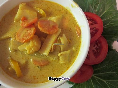 """Photo of Hearts Choices - Market Stall  by <a href=""""/members/profile/Hearts%20Choices"""">Hearts Choices</a> <br/>Authentic Thai Vegan Yellow curry (and gluten free).  Mild and full of six different vegetables.  Made with love by Nan <br/> July 4, 2013  - <a href='/contact/abuse/image/30245/50709'>Report</a>"""