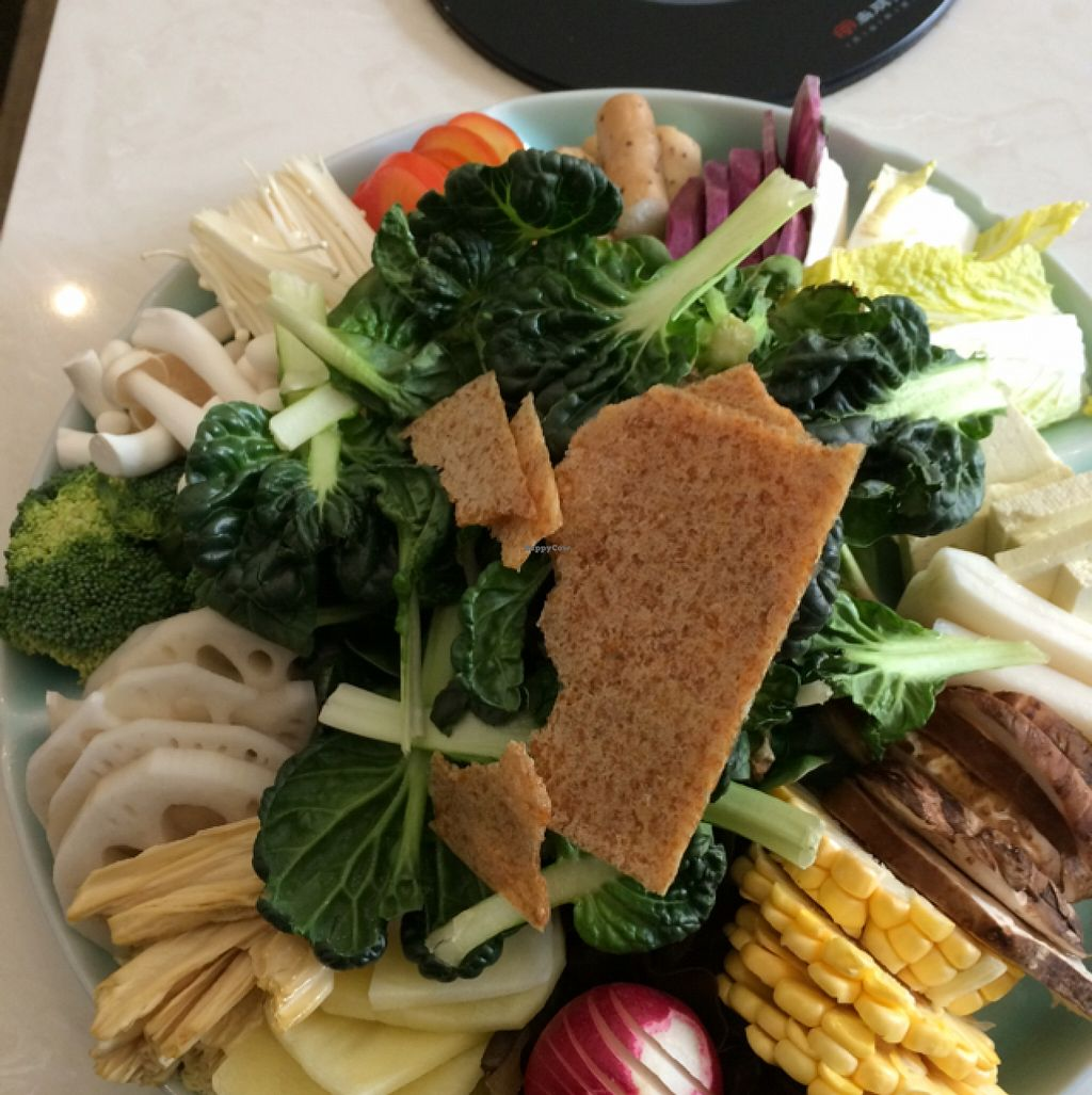 """Photo of Gan Ye Zi Hotpot - Frankie's Kitchen  by <a href=""""/members/profile/Shanghai%20Sally"""">Shanghai Sally</a> <br/>hot pot ingredients  <br/> February 21, 2016  - <a href='/contact/abuse/image/30294/137139'>Report</a>"""