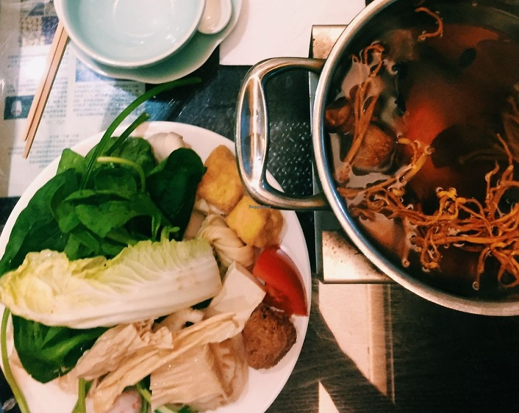 """Photo of Gan Ye Zi Hotpot - Frankie's Kitchen  by <a href=""""/members/profile/nzvegan"""">nzvegan</a> <br/>Hot pot <br/> October 19, 2015  - <a href='/contact/abuse/image/30294/265233'>Report</a>"""