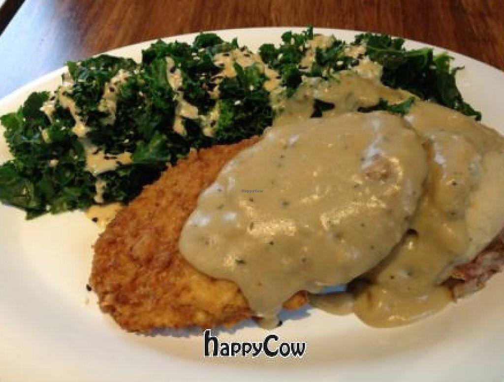 """Photo of Veggie Grill  by <a href=""""/members/profile/nardanddee"""">nardanddee</a> <br/>crispy chik'n plate <br/> May 21, 2013  - <a href='/contact/abuse/image/30324/218718'>Report</a>"""