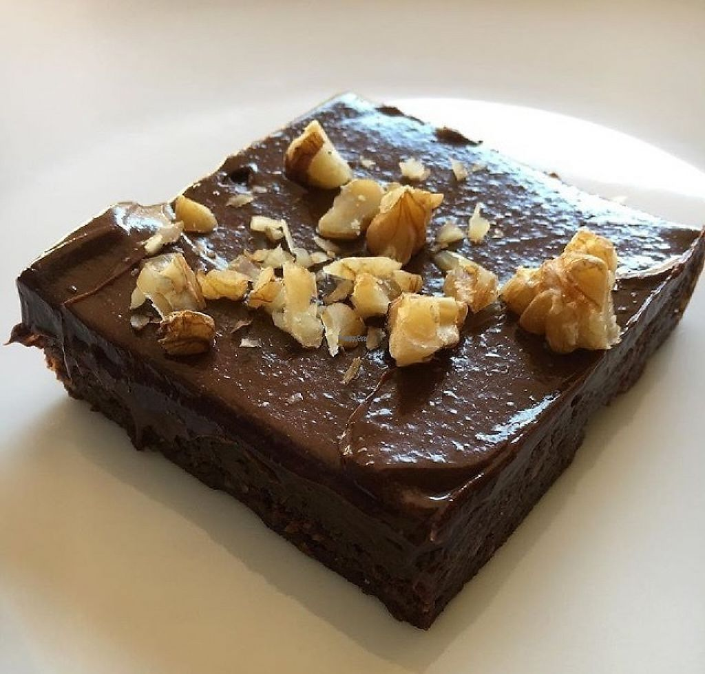 """Photo of Peace Pies  by <a href=""""/members/profile/oceansidevegan"""">oceansidevegan</a> <br/>Chocolate Brownie, pretty good! Would have been totally fine with just a cup of the frosting instead though :D  <br/> February 28, 2017  - <a href='/contact/abuse/image/30332/231141'>Report</a>"""