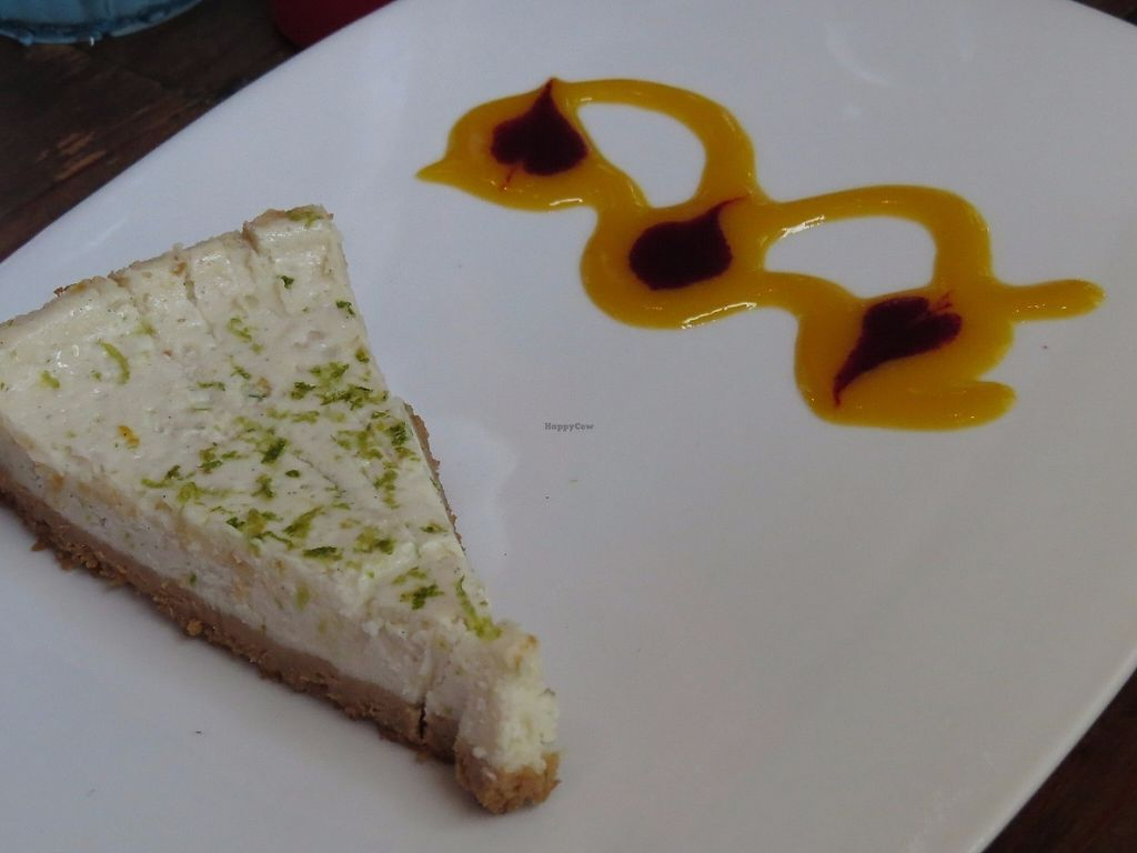 """Photo of The Cafe  by <a href=""""/members/profile/acwrice"""">acwrice</a> <br/>Vegan Key Lime Cheesecake <br/> May 4, 2017  - <a href='/contact/abuse/image/3033/255530'>Report</a>"""