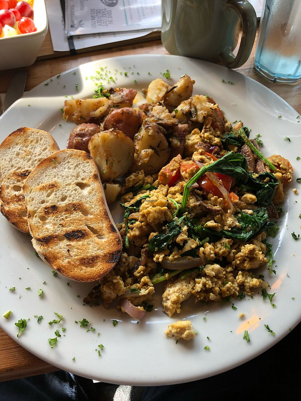 """Photo of The Cafe  by <a href=""""/members/profile/thirty3n1third"""">thirty3n1third</a> <br/>Tofu Scramble <br/> March 18, 2018  - <a href='/contact/abuse/image/3033/372653'>Report</a>"""
