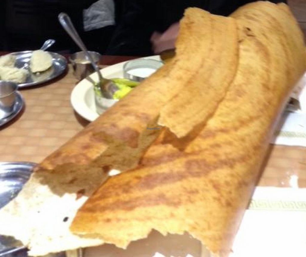 """Photo of Sapthagiri  by <a href=""""/members/profile/slo0go"""">slo0go</a> <br/>Yum!  Paper masala dosa <br/> May 19, 2014  - <a href='/contact/abuse/image/30355/208803'>Report</a>"""