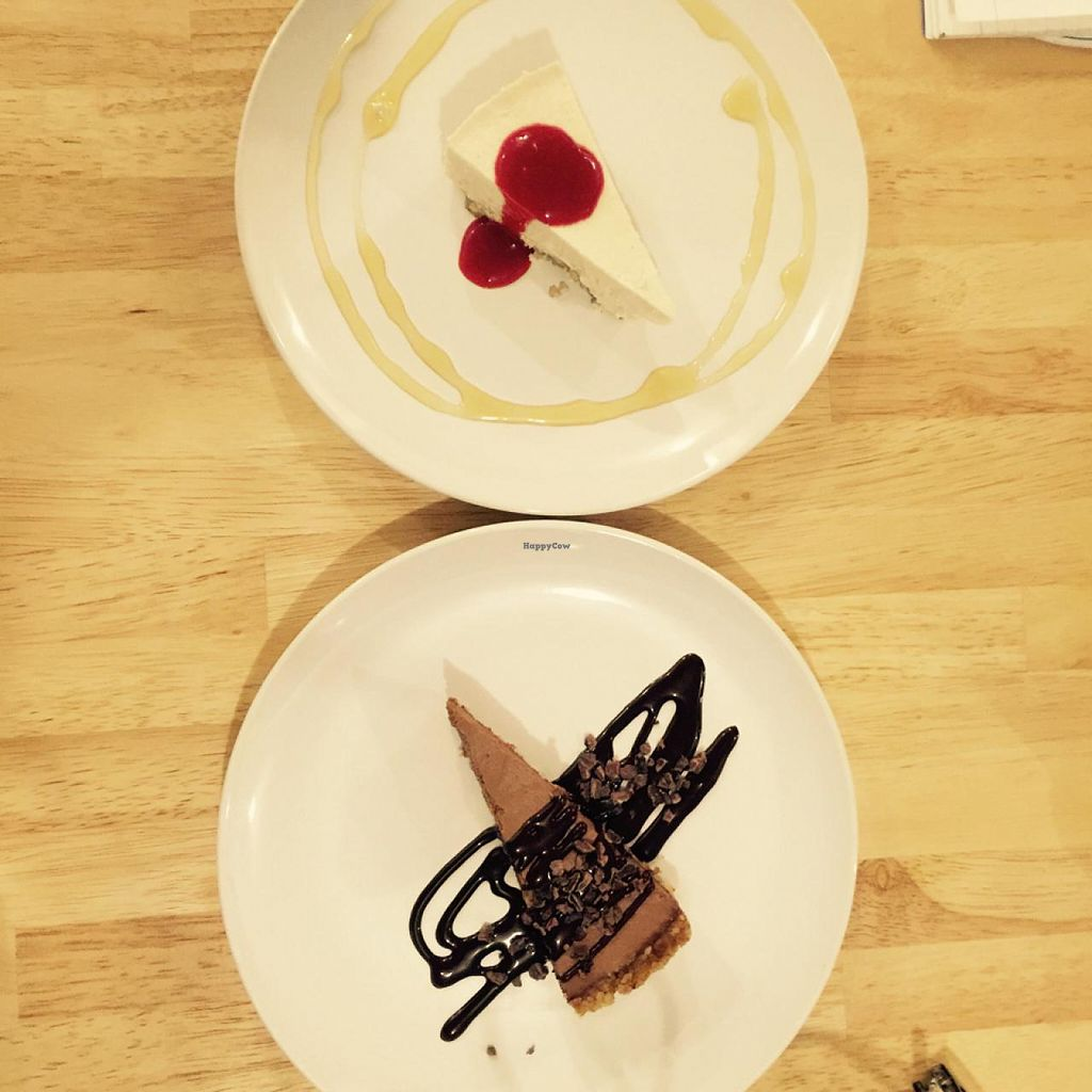 """Photo of Raw8 Cafe  by <a href=""""/members/profile/StephieLin"""">StephieLin</a> <br/>chocolate tart and cheesecake  <br/> April 25, 2015  - <a href='/contact/abuse/image/30371/100181'>Report</a>"""