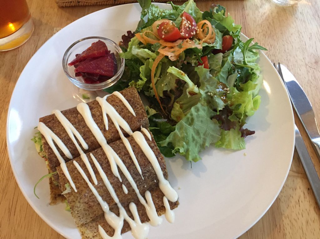 """Photo of Raw8 Cafe  by <a href=""""/members/profile/Gillsabroad"""">Gillsabroad</a> <br/>vegan samosas  <br/> January 28, 2017  - <a href='/contact/abuse/image/30371/218101'>Report</a>"""