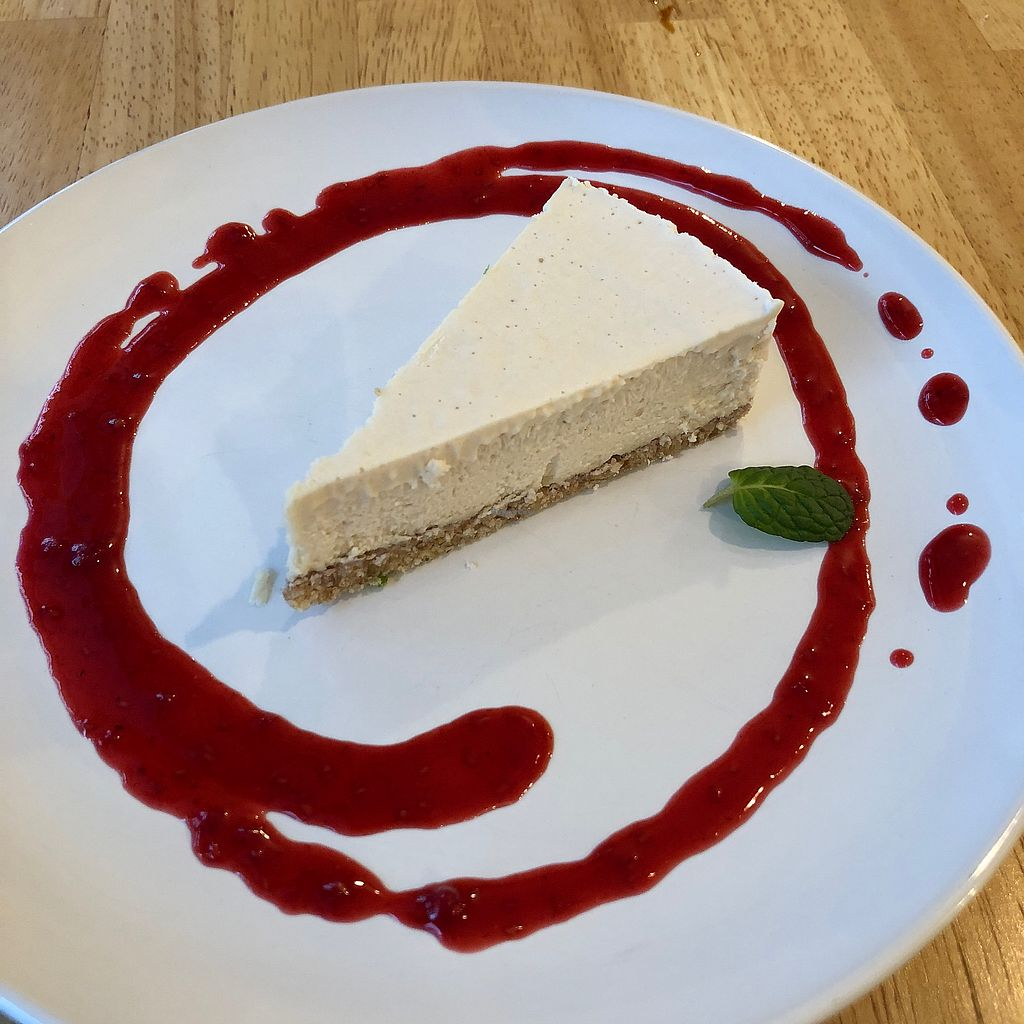 """Photo of Raw8 Cafe  by <a href=""""/members/profile/earthville"""">earthville</a> <br/>Vegan cheesecake <br/> February 6, 2018  - <a href='/contact/abuse/image/30371/355551'>Report</a>"""