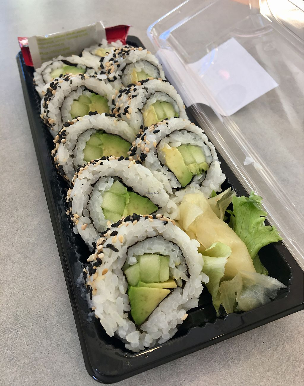 """Photo of Whole Foods Market  by <a href=""""/members/profile/Clean%26Green"""">Clean&Green</a> <br/>Avocado cucumber sushi roll  <br/> January 22, 2018  - <a href='/contact/abuse/image/3037/349903'>Report</a>"""