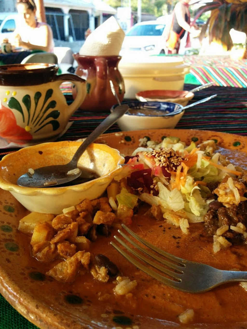 """Photo of Puerto Vegan, Siempre Sano  by <a href=""""/members/profile/hclark"""">hclark</a> <br/>Forgot to take a picture until I was part way through my meal, it was so good!  <br/> February 7, 2016  - <a href='/contact/abuse/image/30394/135392'>Report</a>"""