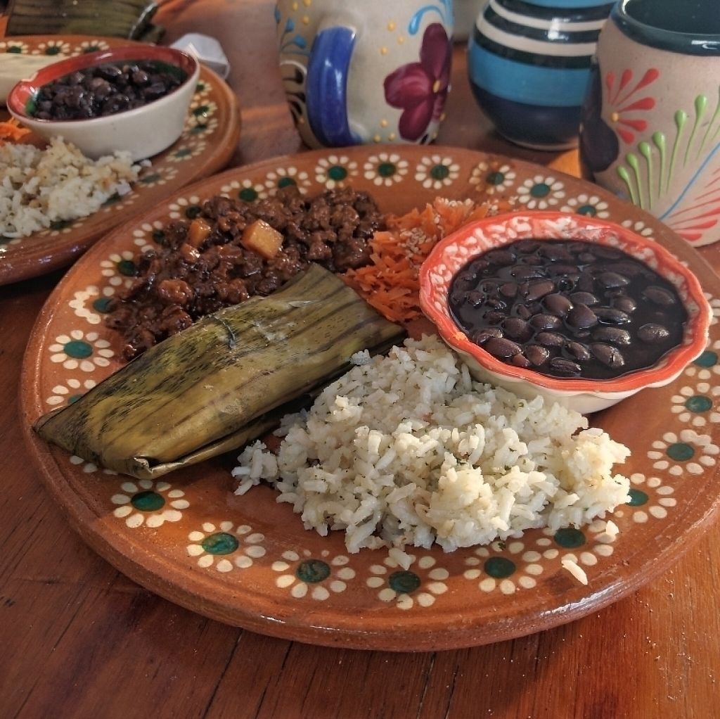 """Photo of Puerto Vegan, Siempre Sano  by <a href=""""/members/profile/swissglobetrotter"""">swissglobetrotter</a> <br/>tamal, guisos, arroz, frijoles, <br/> December 23, 2016  - <a href='/contact/abuse/image/30394/204350'>Report</a>"""