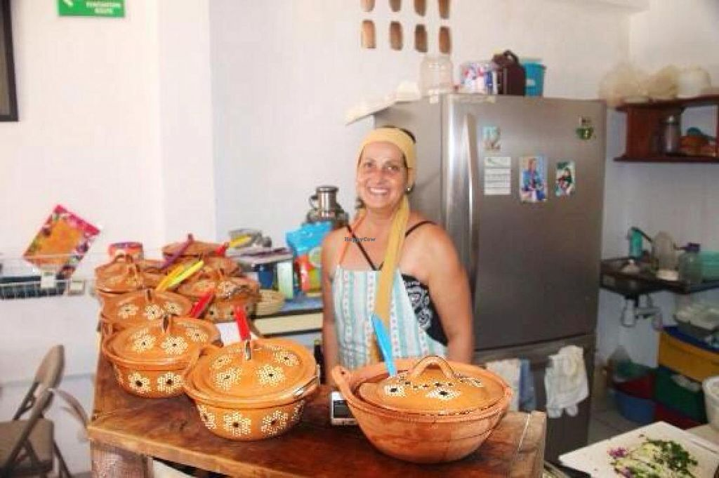 """Photo of Puerto Vegan, Siempre Sano  by <a href=""""/members/profile/BriggitteJ"""">BriggitteJ</a> <br/>The owner and chef <br/> March 1, 2015  - <a href='/contact/abuse/image/30394/94480'>Report</a>"""