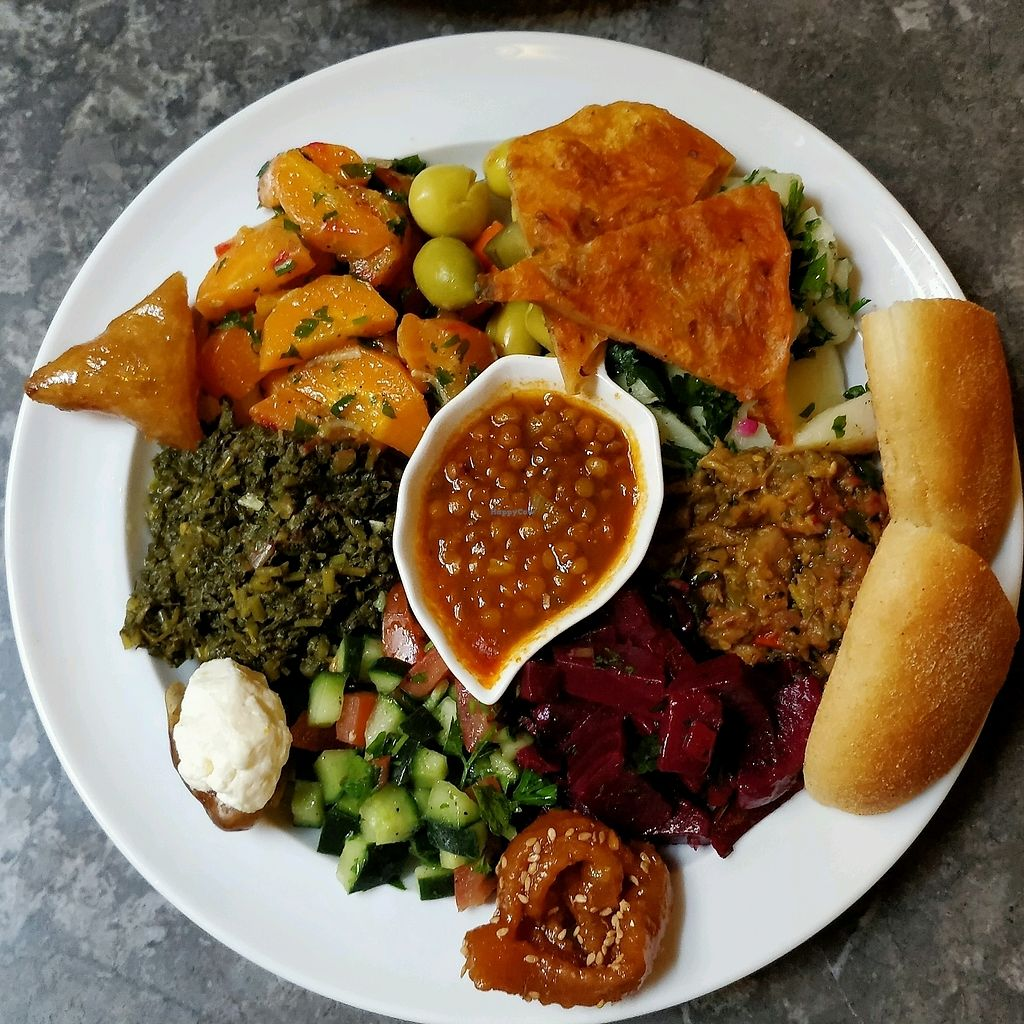 """Photo of Cafe Clock  by <a href=""""/members/profile/IevaR"""">IevaR</a> <br/>vegan morrocan tapas <br/> March 22, 2018  - <a href='/contact/abuse/image/30429/374516'>Report</a>"""