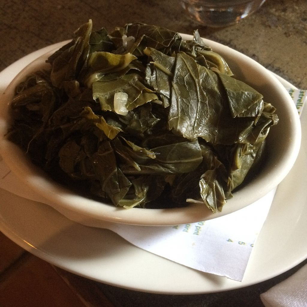 """Photo of Radial Cafe  by <a href=""""/members/profile/KatieBush"""">KatieBush</a> <br/>Vegan collard greens <br/> June 27, 2017  - <a href='/contact/abuse/image/30436/274178'>Report</a>"""
