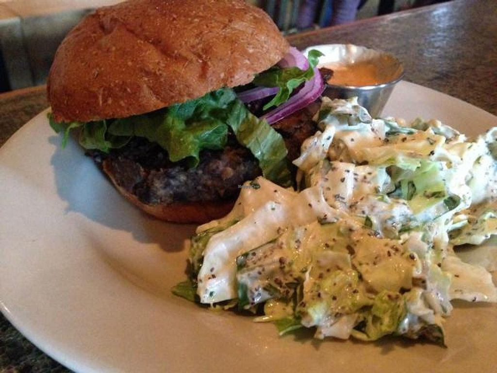 """Photo of Radial Cafe  by <a href=""""/members/profile/calamaestra"""">calamaestra</a> <br/>black bean burger <br/> May 30, 2014  - <a href='/contact/abuse/image/30436/71079'>Report</a>"""