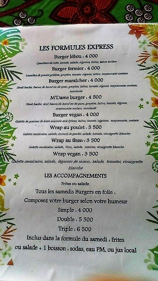 """Photo of Institut Francais Leopold Sedar Senghor  by <a href=""""/members/profile/EvaBlumenwiese"""">EvaBlumenwiese</a> <br/>Part of the menu with vegan labeled dishes <br/> October 25, 2017  - <a href='/contact/abuse/image/30450/318918'>Report</a>"""