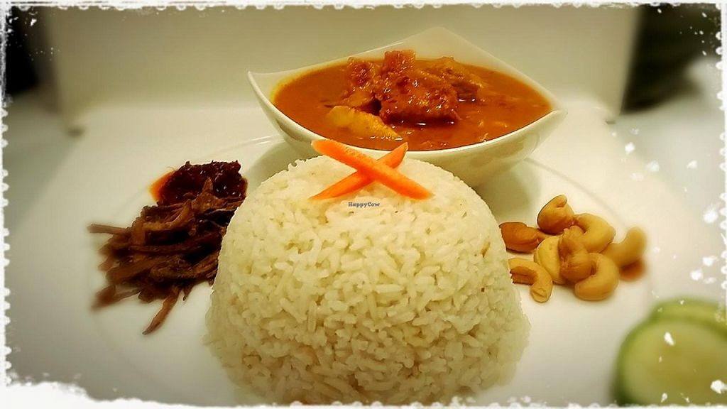 """Photo of Ren Dao Asian Vegetarian  by <a href=""""/members/profile/veganbliss"""">veganbliss</a> <br/>Vegetarian curry rice. The chef constantly stirs this for 2 hours. An outstanding dish! <br/> August 14, 2015  - <a href='/contact/abuse/image/30460/113611'>Report</a>"""