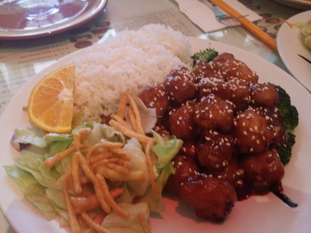 """Photo of Big Lantern  by <a href=""""/members/profile/purplesnowcone"""">purplesnowcone</a> <br/>sesame meatless chicken lunch option  <br/> July 24, 2017  - <a href='/contact/abuse/image/30483/284470'>Report</a>"""