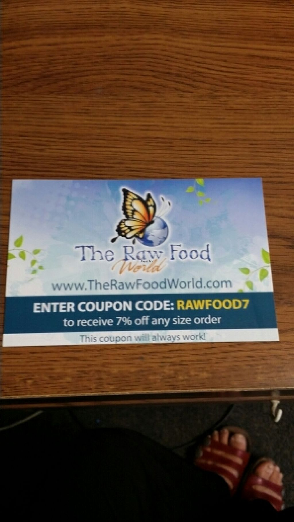 """Photo of The Raw Food World  by <a href=""""/members/profile/catbone"""">catbone</a> <br/>Online 7% discount Coupon Code (works everytime) <br/> March 12, 2016  - <a href='/contact/abuse/image/30512/139651'>Report</a>"""