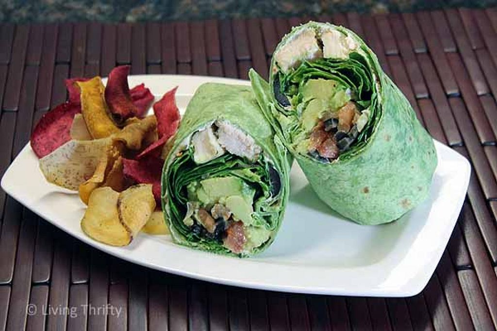 """Photo of CLOSED: Happiness Healthy Cafe  by <a href=""""/members/profile/KartikPatel"""">KartikPatel</a> <br/>Hummus Wrap <br/> January 14, 2016  - <a href='/contact/abuse/image/30529/132301'>Report</a>"""