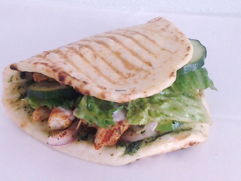 """Photo of CLOSED: Happiness Healthy Cafe  by <a href=""""/members/profile/KartikPatel"""">KartikPatel</a> <br/>Spicy Tofu Naanwich <br/> January 14, 2016  - <a href='/contact/abuse/image/30529/132302'>Report</a>"""