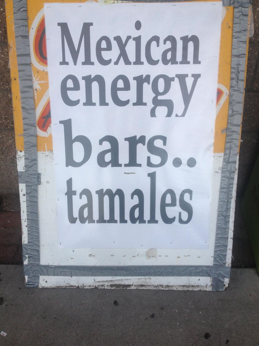 """Photo of Tanias 33 Dos Mundos  by <a href=""""/members/profile/vegan_ryan"""">vegan_ryan</a> <br/>Amusing sign out front <br/> December 13, 2015  - <a href='/contact/abuse/image/30534/128268'>Report</a>"""