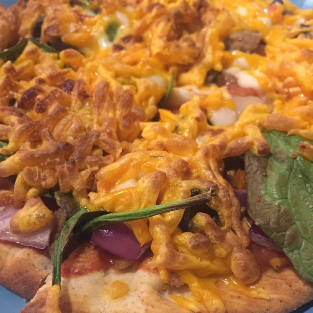 "Photo of CLOSED: Downtown Central Perk  by <a href=""/members/profile/happycowgirl"">happycowgirl</a> <br/>vegan flatbread pizza <br/> January 23, 2016  - <a href='/contact/abuse/image/30543/133428'>Report</a>"