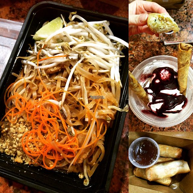 """Photo of VeStation Urban Organic Kitchen  by <a href=""""/members/profile/MirandaJA"""">MirandaJA</a> <br/>amazing pad Thai , banana crisps , best coconut ice cream and the quinoa roles soooo good  <br/> August 26, 2016  - <a href='/contact/abuse/image/30585/171618'>Report</a>"""