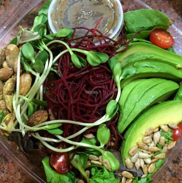 """Photo of VeStation Urban Organic Kitchen  by <a href=""""/members/profile/MirandaJA"""">MirandaJA</a> <br/>superfoods salad is sooooo good!!! also it is huge!  <br/> August 26, 2016  - <a href='/contact/abuse/image/30585/171623'>Report</a>"""