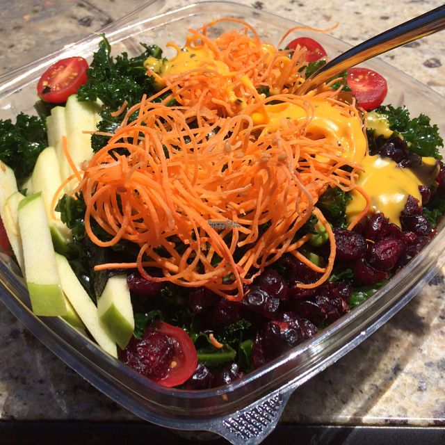 """Photo of VeStation Urban Organic Kitchen  by <a href=""""/members/profile/MirandaJA"""">MirandaJA</a> <br/>raw kale salad is amazing!! their salads are so fresh and huge!  <br/> August 26, 2016  - <a href='/contact/abuse/image/30585/171626'>Report</a>"""