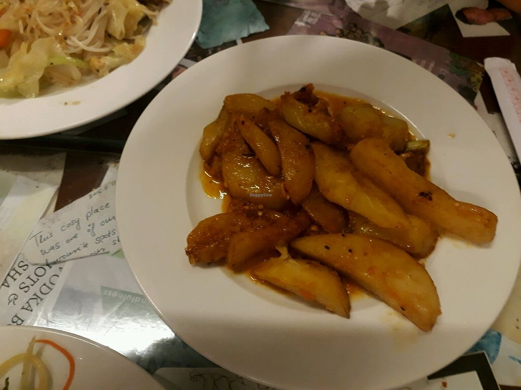 """Photo of Minh Hien Quan Chay  by <a href=""""/members/profile/SaffireBlack"""">SaffireBlack</a> <br/>Potatoes with soy bean pasta sauce <br/> November 26, 2017  - <a href='/contact/abuse/image/30597/329406'>Report</a>"""