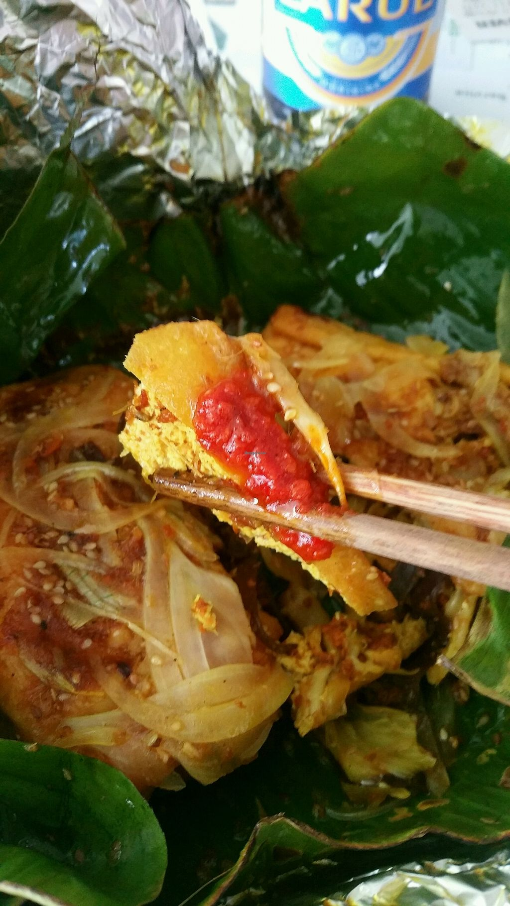 """Photo of Minh Hien Quan Chay  by <a href=""""/members/profile/EranCohen"""">EranCohen</a> <br/>Stuffed tofu w onion, mashrooms, garlic and curry rolled in banana leaf and steamed (have a bit of a sweet flavor)  <br/> April 1, 2018  - <a href='/contact/abuse/image/30597/379229'>Report</a>"""