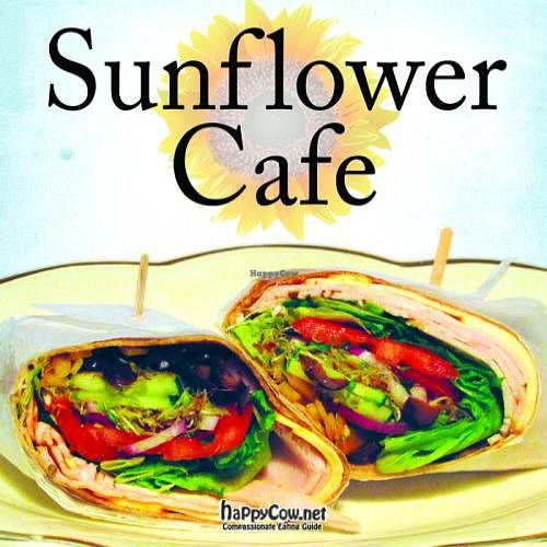 "Photo of Sunflower Cafe  by <a href=""/members/profile/krisl"">krisl</a> <br/>A variety of organic wraps and sandwiches made with vegan, vegetarian, and gluten free options <br/> February 16, 2012  - <a href='/contact/abuse/image/30615/28466'>Report</a>"