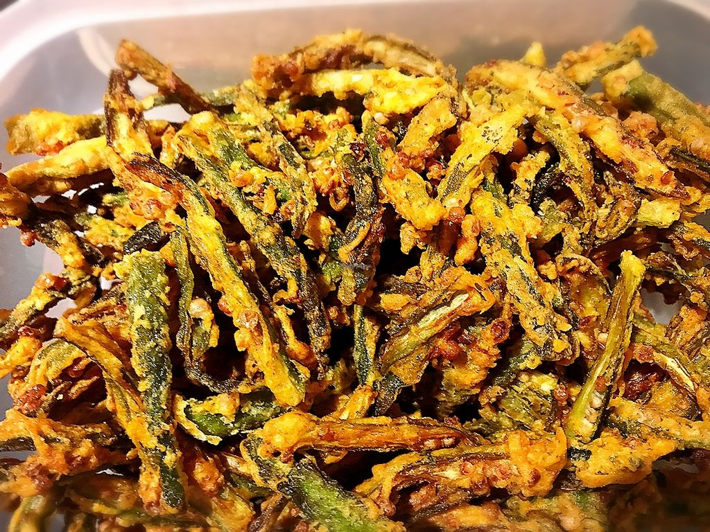 "Photo of Jyoti  by <a href=""/members/profile/MahavirSolanki"">MahavirSolanki</a> <br/>Crispy Okra <br/> July 31, 2017  - <a href='/contact/abuse/image/30636/287048'>Report</a>"