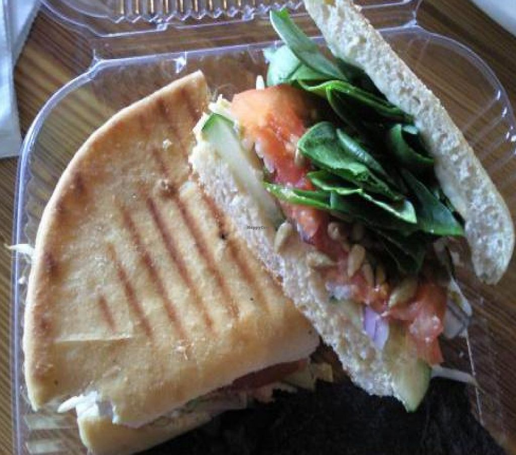 """Photo of Brew  by <a href=""""/members/profile/happycowgirl"""">happycowgirl</a> <br/>Very Vegan sandwich to go <br/> February 20, 2012  - <a href='/contact/abuse/image/30678/204821'>Report</a>"""