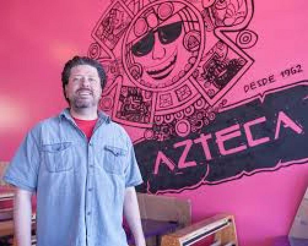 """Photo of CLOSED: El Azteca Mexican Taco Shop  by <a href=""""/members/profile/Meggie%20and%20Ben"""">Meggie and Ben</a> <br/>Carlos, the owner, in their new location <br/> January 11, 2014  - <a href='/contact/abuse/image/30687/62299'>Report</a>"""